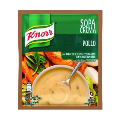 Sopa Crema Pollo..............