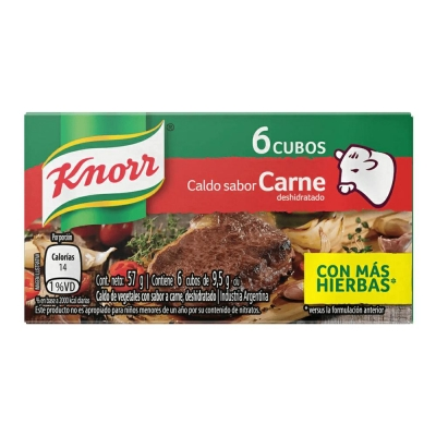 Caldo Knorr De Carne.......x6u