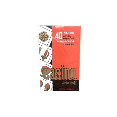 Naipes Plastif.casino.....x40c