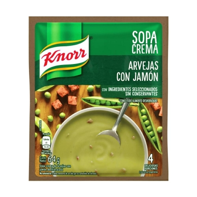 Sopa Crema Arvejas C/jamon....