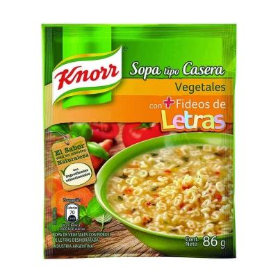 Sopa Casera Vegetales C/letras