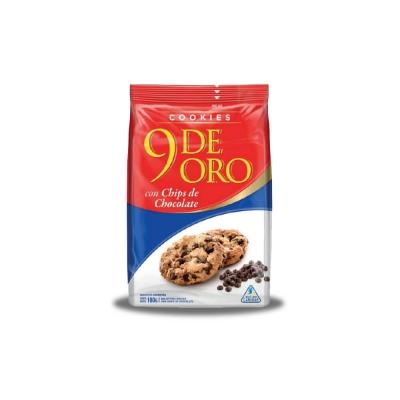 9 De Oro Cookies Chips Chocolate.x180g