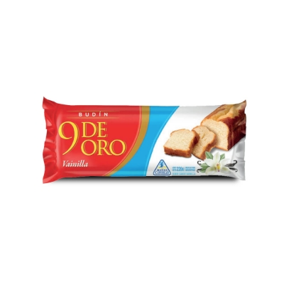 9 De Oro Budin Vainilla..x220g