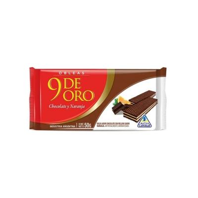 9 De Oro Oblea Choc/naranjax50g