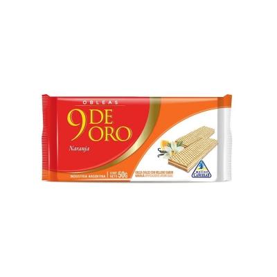 9 De Oro Oblea Vain/naranjax50g