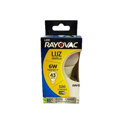 Lam.rayovac 6w Amarilla (60w)