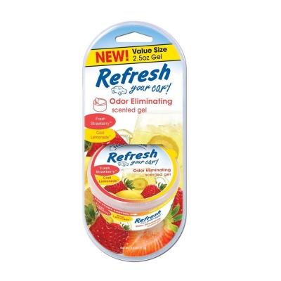 Refresh Your Car Gel Strawberry/lemon Elim.olores