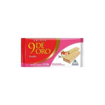 9 De Oro  Oblea Flla/vainx50g