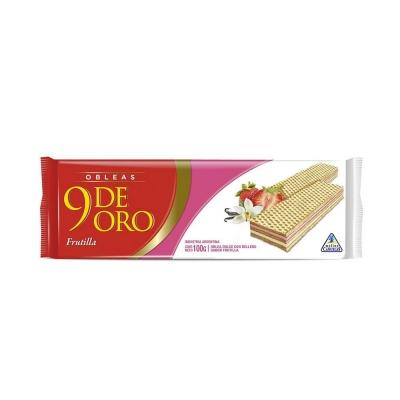 9 De Oro Oblea Flla/vain..x100g