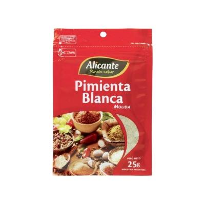 Alicante Pimienta Bca.molida X25g