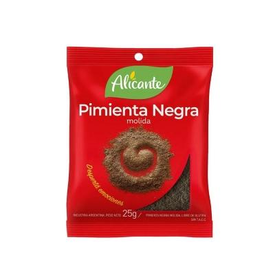 Alicante Pimienta Negra Molida X25g