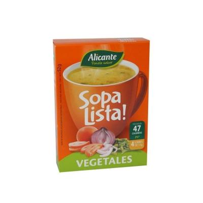 Sopa  Alicante Lista Veg.4ux13g