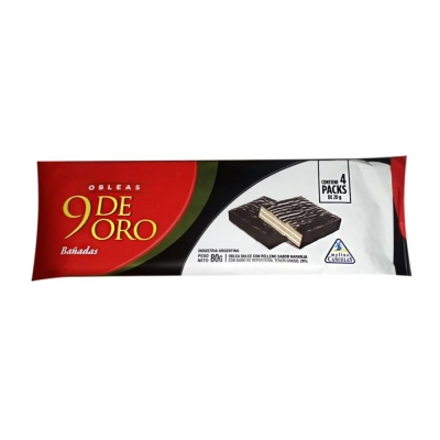9 De Oro Oblea BaÑada Vain.x80g