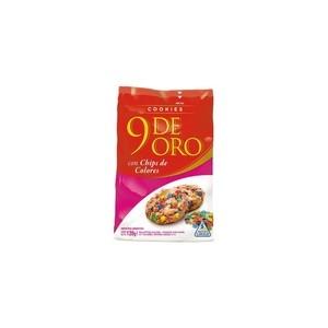 9 De Oro Cookies C/chips Coloresx120g